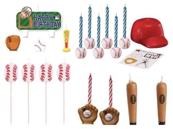Baseball Theme Candles