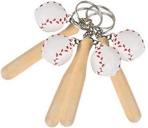 Baseball & Wooden Bat Keychains