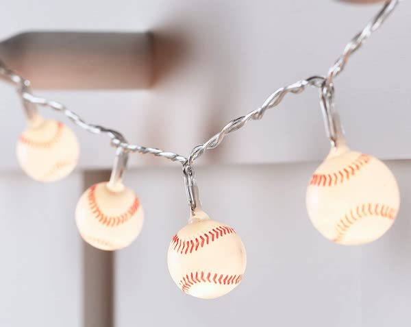 Mini Baseball Battery Operated Indoor String Lights