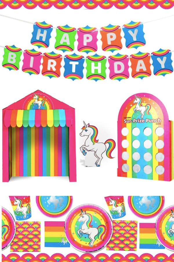 Rainbow Unicorn Birthday Party Supplies