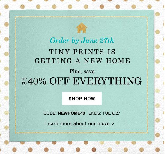 Tiny Prints Shutterfly Move