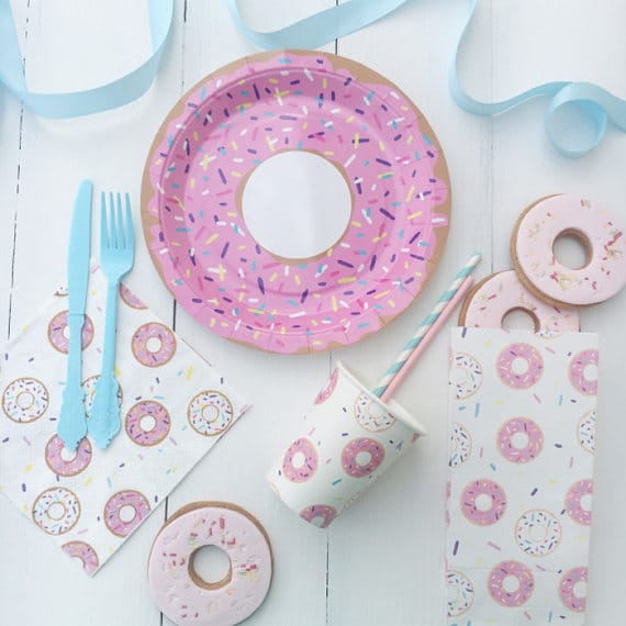 Donut Party Tableware