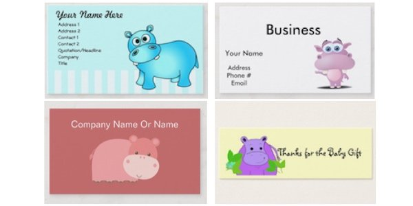 Hippo Place Cards