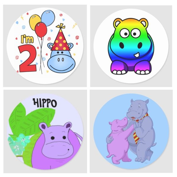 Hippo Stickers