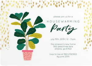 Party Save the Date & Invite