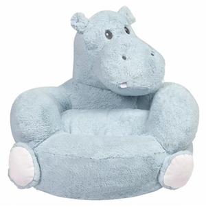 Plush Hippo Novelty Chair