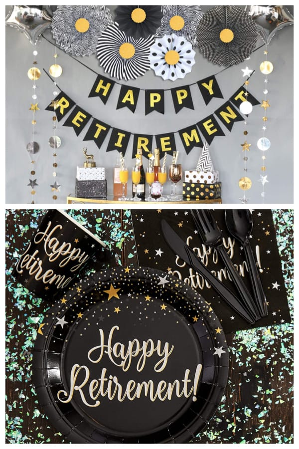 Happy Retirement Party Decor and Supplies