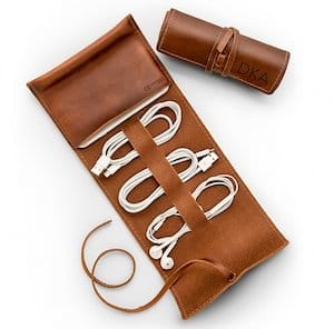 Personalized Leather Cord Traveler