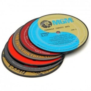 Vintage LP Record Coasters