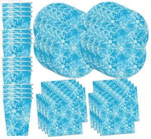 Blue Snowflake Winter Party Supplies