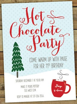 Hot Chocolate Party Printable Invitations