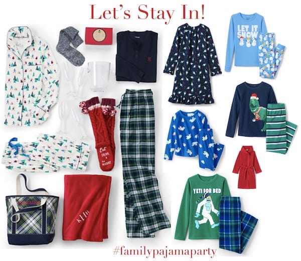 Lets Stay In Family Pajama Party