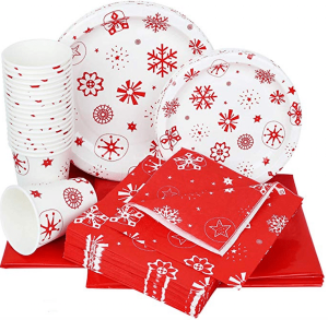 Red Snowflake Party Supplies