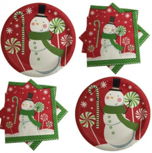 Red Snowman Winter Party Supplies