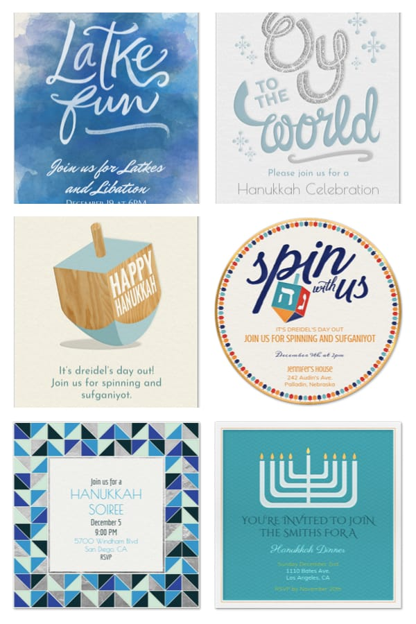 Email and Text Hanukkah Invitations