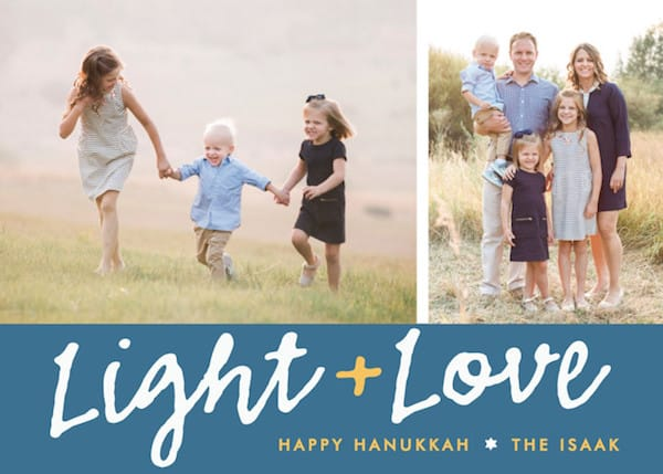 Light + Love Hanukkah Cards