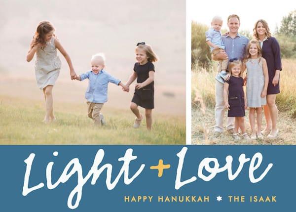 Light + Love Hanukkah Cards