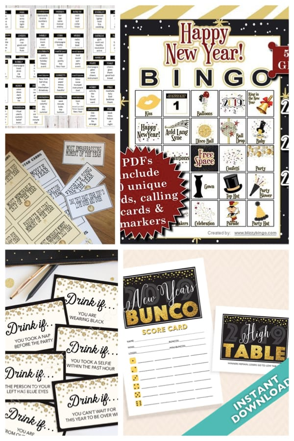 Printable New Years Eve Party Games