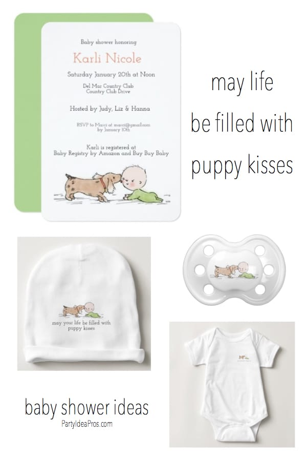 May Life Be Filled With Puppy Kisses Baby Shower