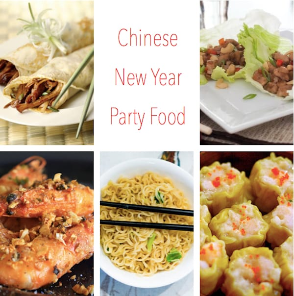 Chinese New Year Party Food