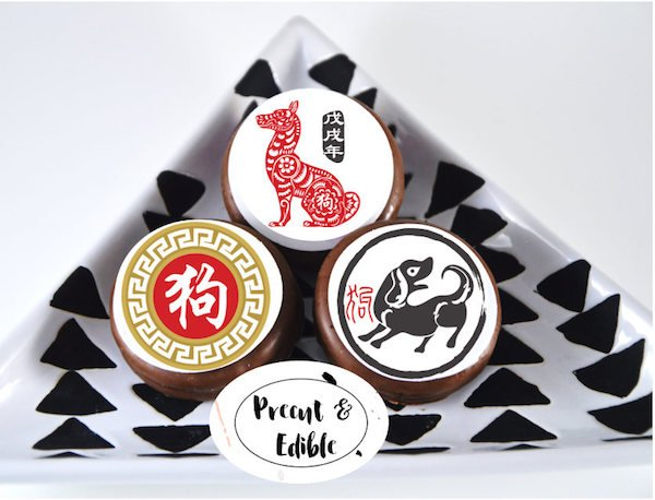 Chinese New Year Year of the Dog Oreo and Cupcake Topper