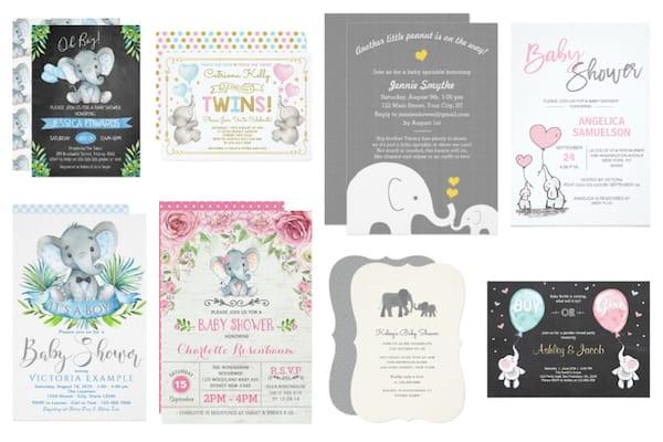 Baby Shower Elephant Invitations - Zazzle