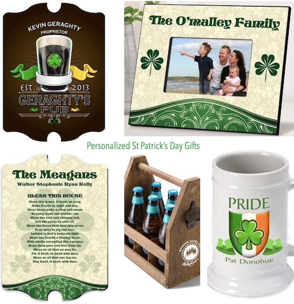Personalized St Patrick's Day Gifts