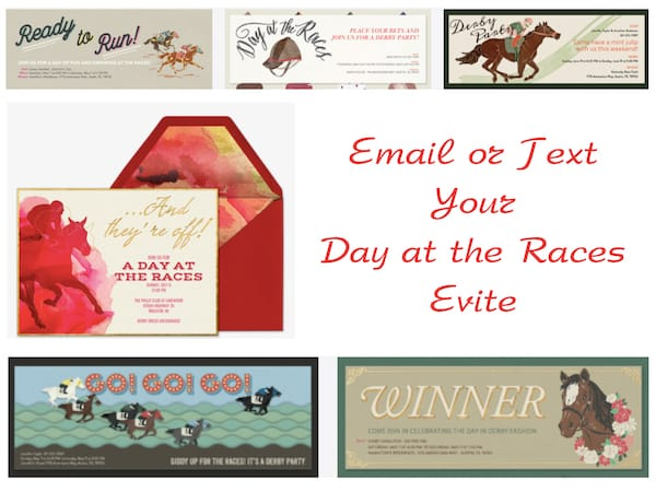 Email or Text Your Day at the Races Evite