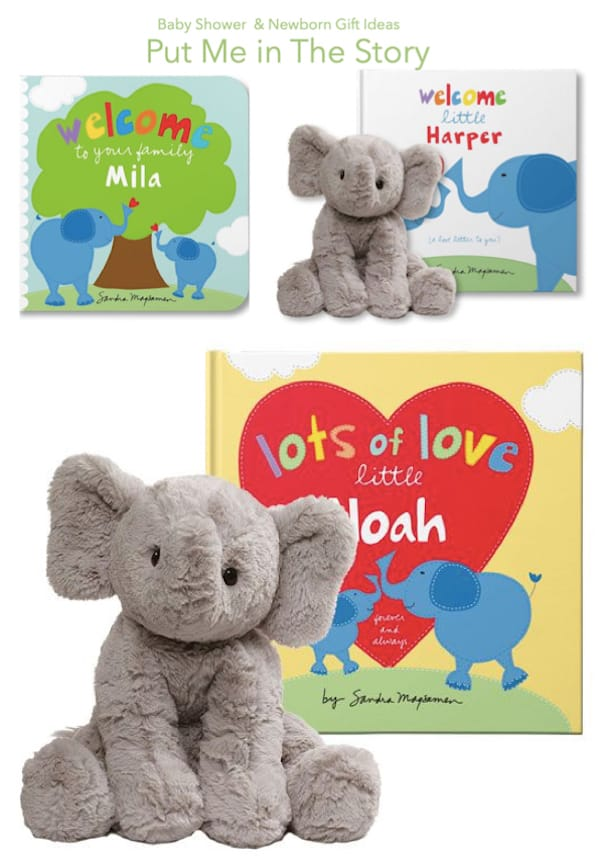 Baby Shower and Newborn Gift Ideas Put Me in the Story about Elephants