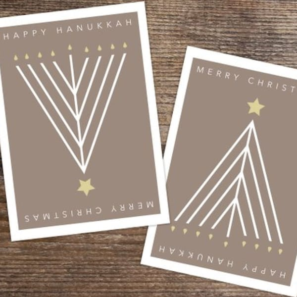All in One Happy Hanukkah Merry Christmas Cards