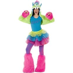 Colorful Fuzzy Monster Costume