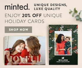 Minted Holiday Cards Preview