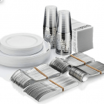 Silver Tableware Party Supplies