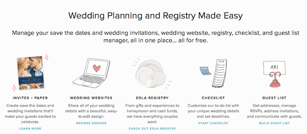 Zola Wedding Planning and Registry Made Easy
