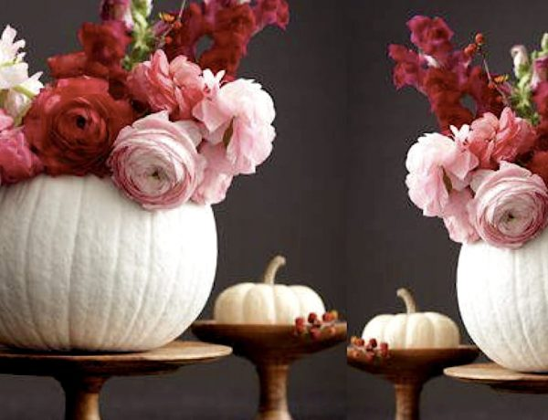 Chic Painted Pumpkin Centerpiece Fall Party Planning