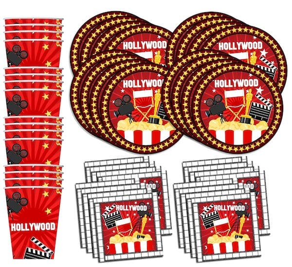 Hollywood Movie Night Birthday Party Supplies