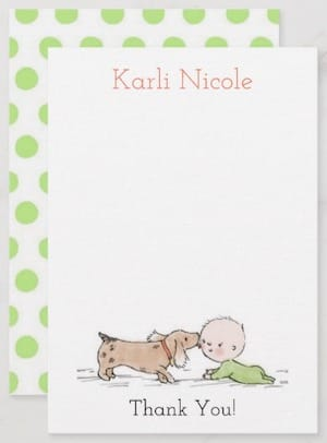 Puppy Kisses Flat Thank You Cards