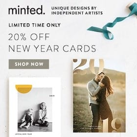 Minted New Year Cards Sale