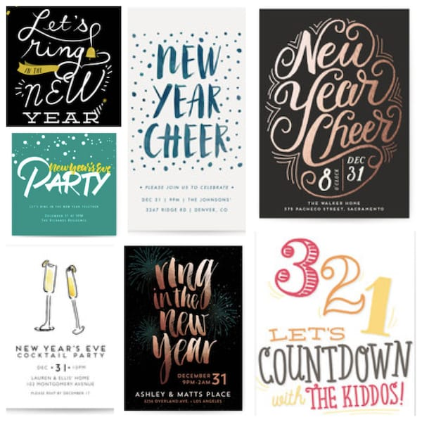 Online New Years Eve Party Invitations