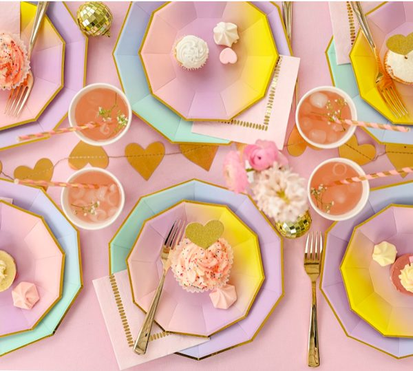 Ombre Plates Napkins and Party Supplies