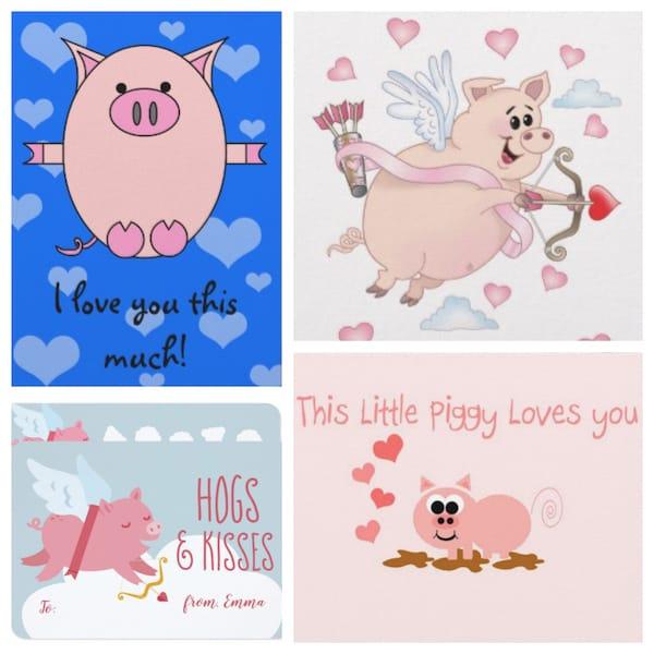 Pig Valentines