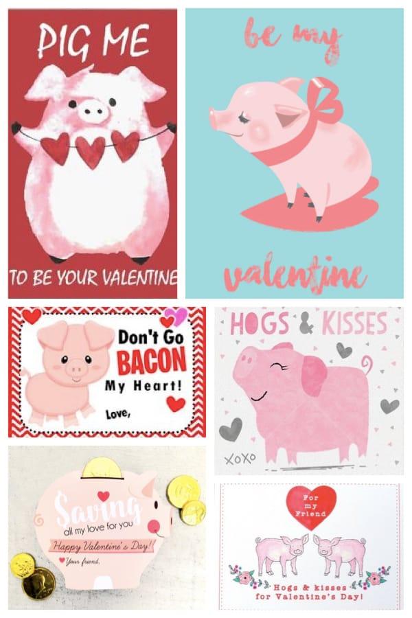 Printable Pig Valentines