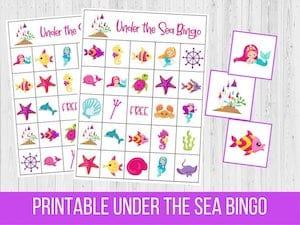 Printable Under the Sea Bingo