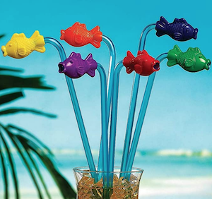 Tropical Fish Straws