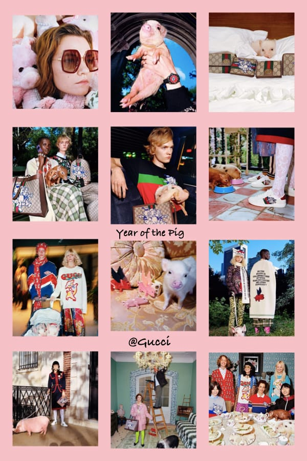 Year of the Pig on Gucci Instagram