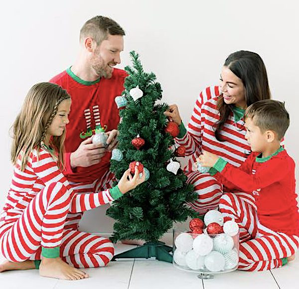 Family-Matching-Red-Striped-Elf-Christmas-Pajamas