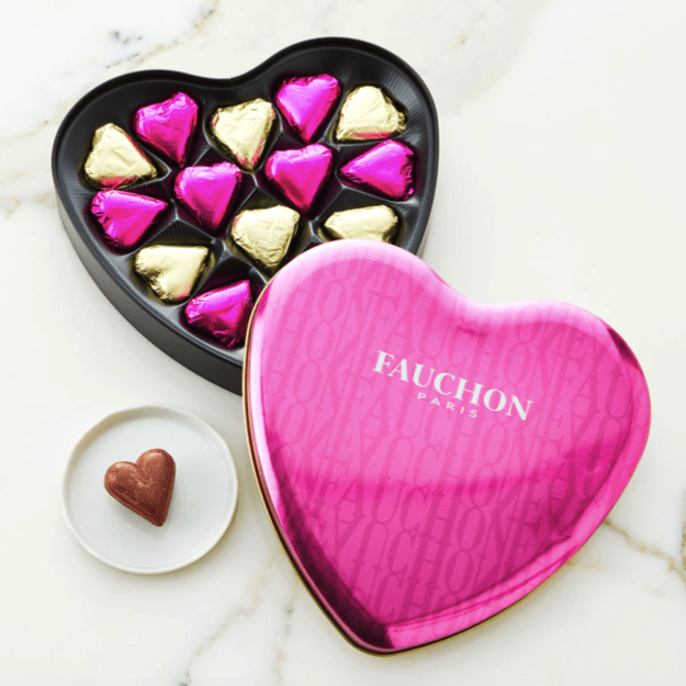 Fauchon Chocolate Hearts Box