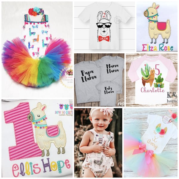 Llama Fun Birthday Party Outfits
