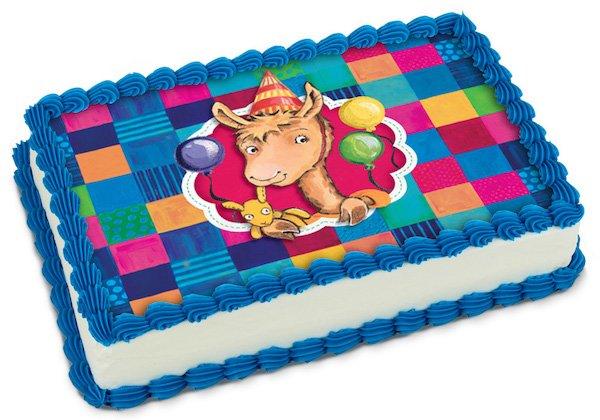 Llama Llama Partyrama Quilted Cake Sheet