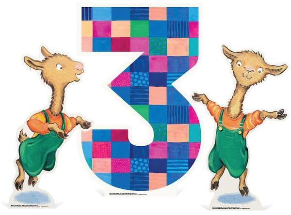 Llama Llama Tabletop Number Standee
